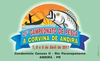 Começa nesta sexta a 21ª Campeonato de Pesca à Corvina em Andirá