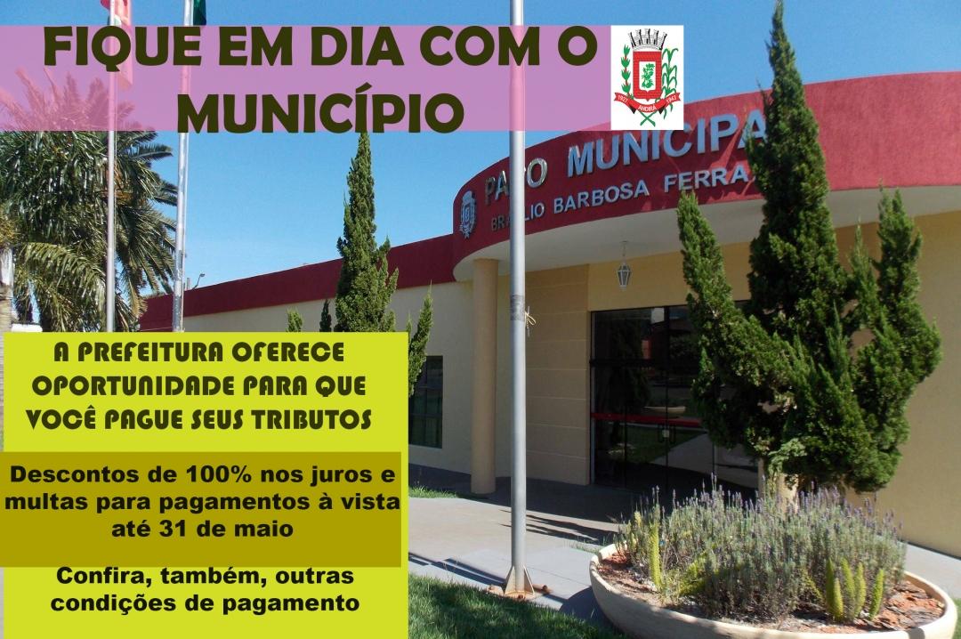 Prefeitura prorroga para até 31 de maio o prazo para o Prorefisa