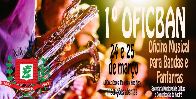24 e 25 de março: Andirá promove oficina gratuita de formação musical para Bandas e Fanfarras