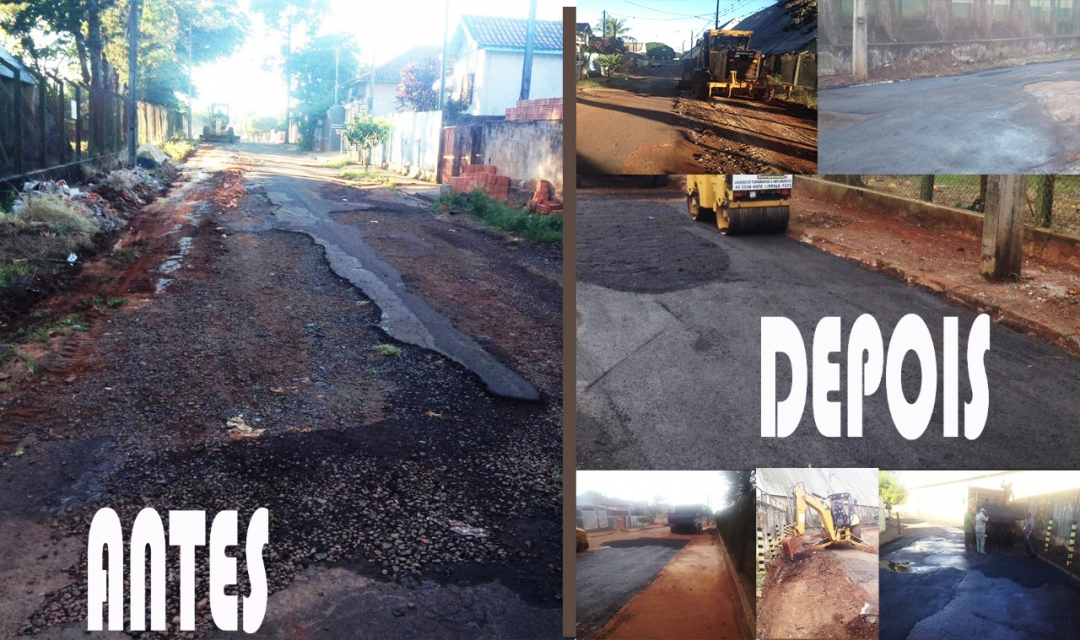 Investimento em Infraestrutura: Prefeitura realiza recuperação de asfalto na Rua Paraná