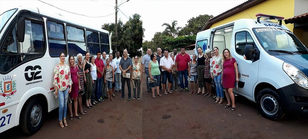 Transporte coletivo e Ambulância Zero são entregues à população do Distrito Nossa Senhora Aparecida