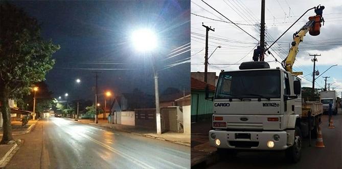 Economia e mais Eficiência: Prefeitura de Andirá realiza troca de lâmpadas comuns por LED