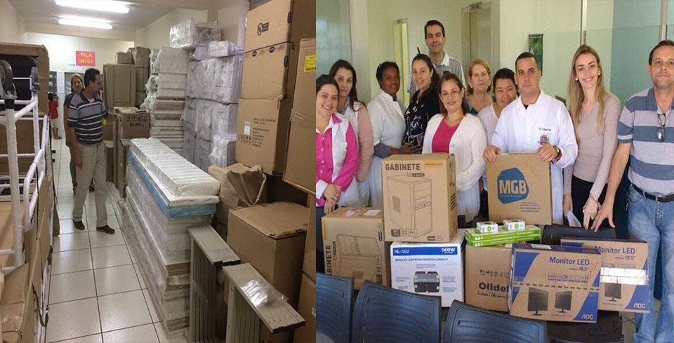 Prefeitura de Andirá equipa Postos de Saúde com novos computadores, móveis e equipamentos