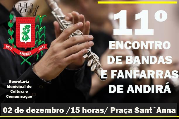 11º Encontro de Bandas e Fanfarras de Andirá acontece neste domingo, 02 de dezembro