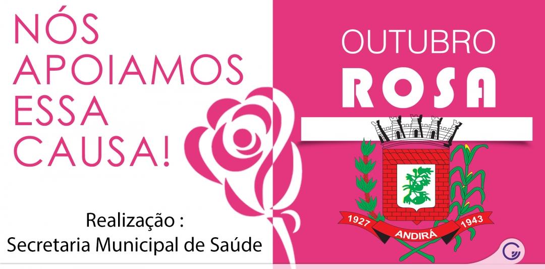 Prefeitura mobiliza ações de conscientização no Outubro Rosa.
