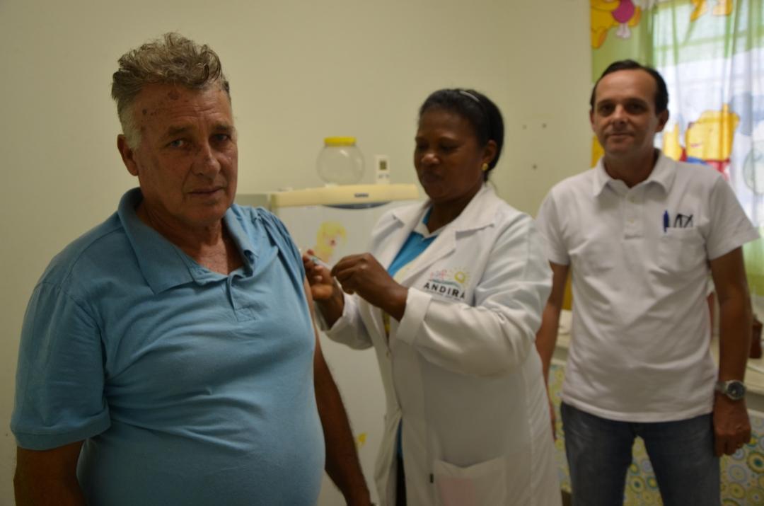 Vacinação contra Gripe: Saúde já vacinou 61% do público apto; meta é 95%, até 26 de maio