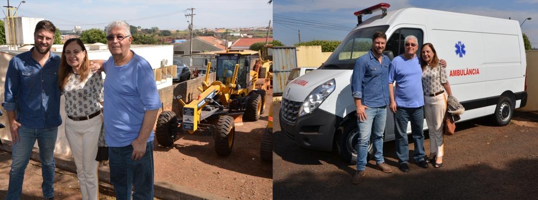Conquistas: Senador Requião e deputado Maurício realizam entrega oficial de veículos à Andirá