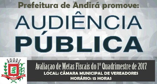 Prefeitura realiza 1ª Audiência Pública sobre avaliação de metas fiscais de 2017