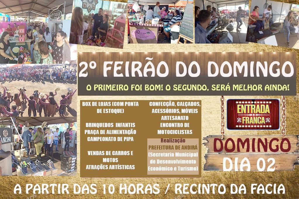 2ª edição do Feirão do Domingo acontece neste domingo, dia 02, na FACIA