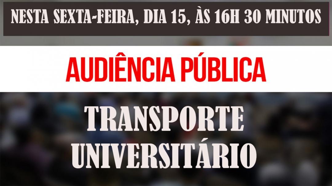 MP promove Audiência Pública nesta sexta, no Cine Teatro, sobre Transporte Universitário