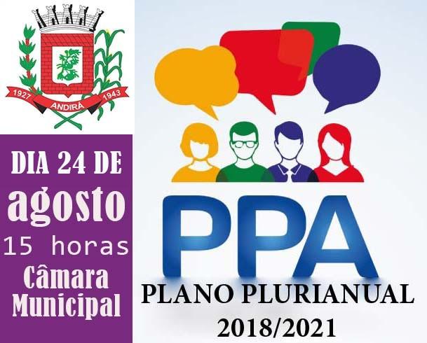 Prefeitura promove, nesta quinta, dia 24, segunda Audiência Pública para elaboração do PPA