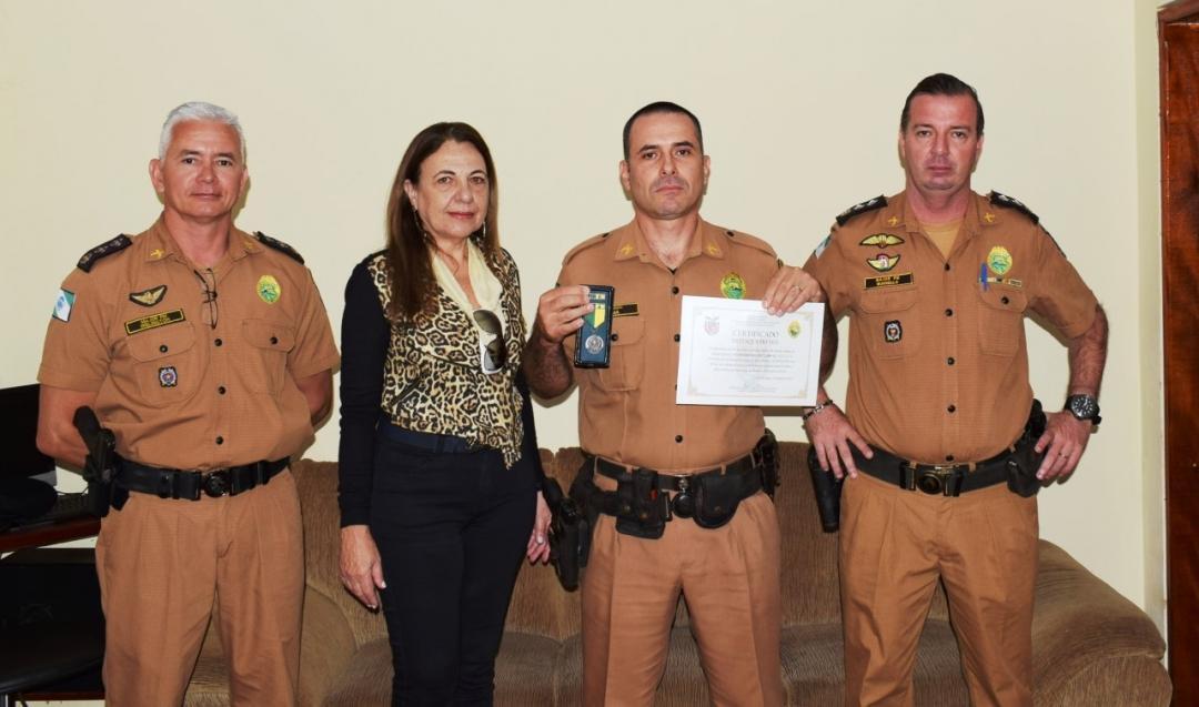 Policial andiraense recebe homenagem do 18º Batalhão da Polícia Militar