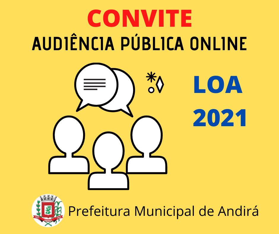 Convite para Audiência Pública Online - LOA 2021