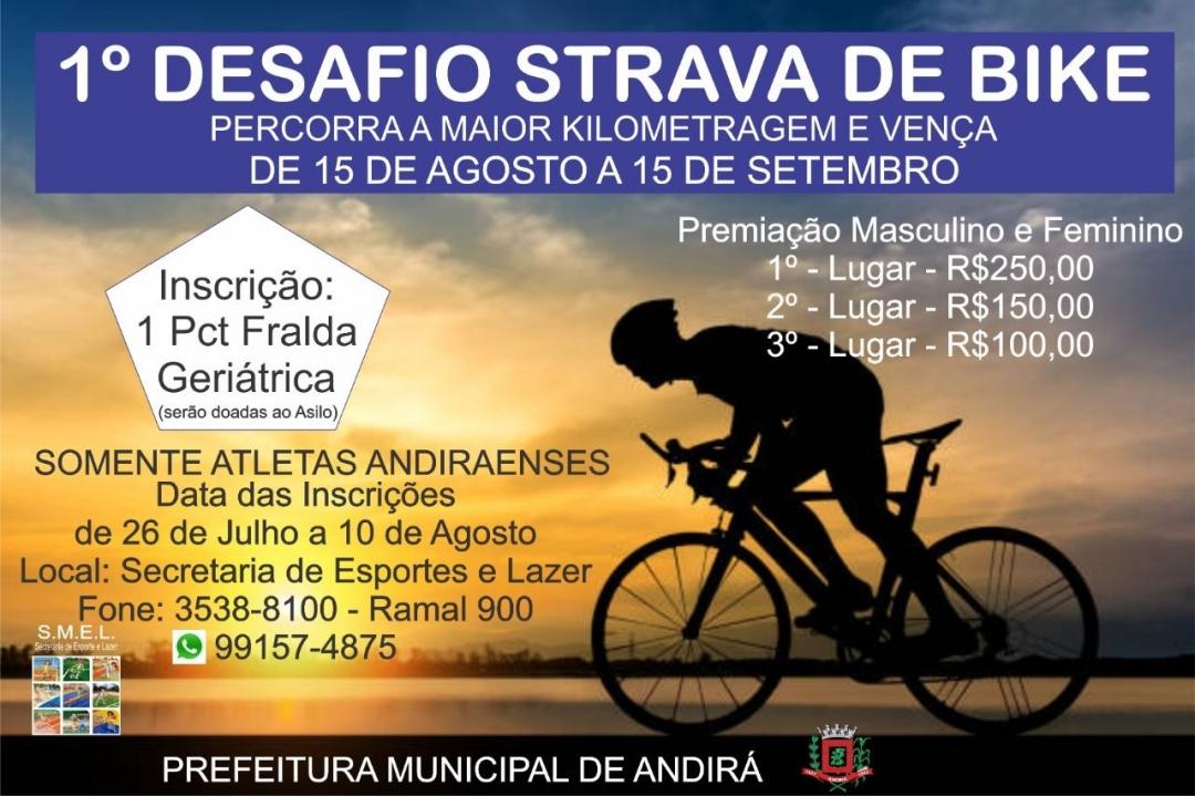 1º Desafio Strava de Bike da Smel Andirá