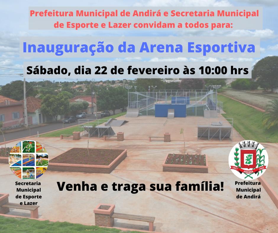 Convite para Inauguração da Arena Esportiva Professor Turim