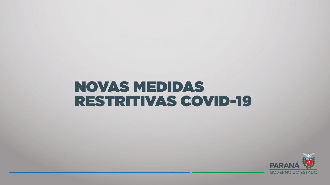 Banners informativos sobre o novo Decreto do Governo do Estado do Paraná