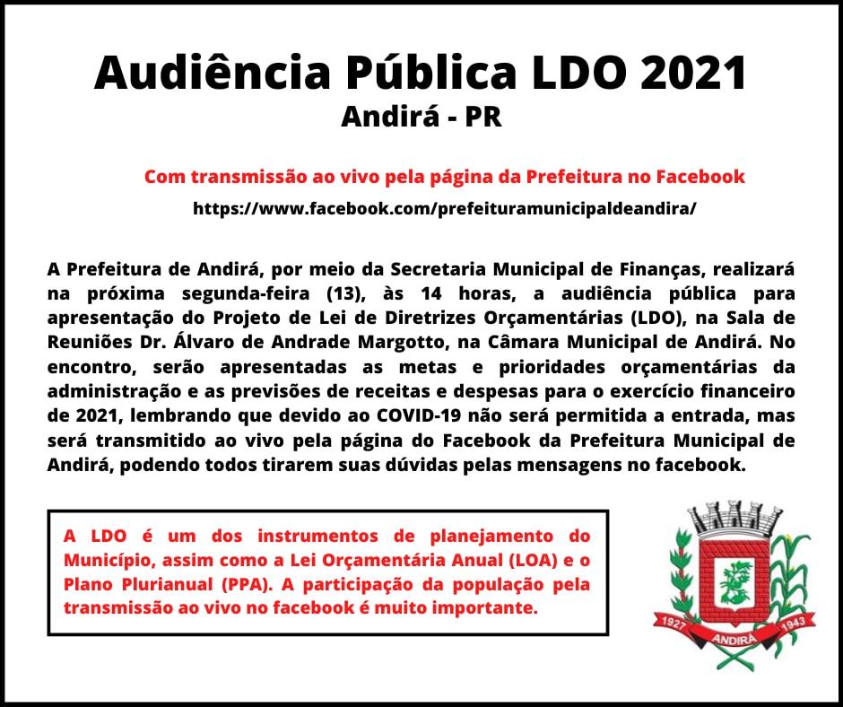 Prefeitura realiza audiência pública com transmissão pelo facebook