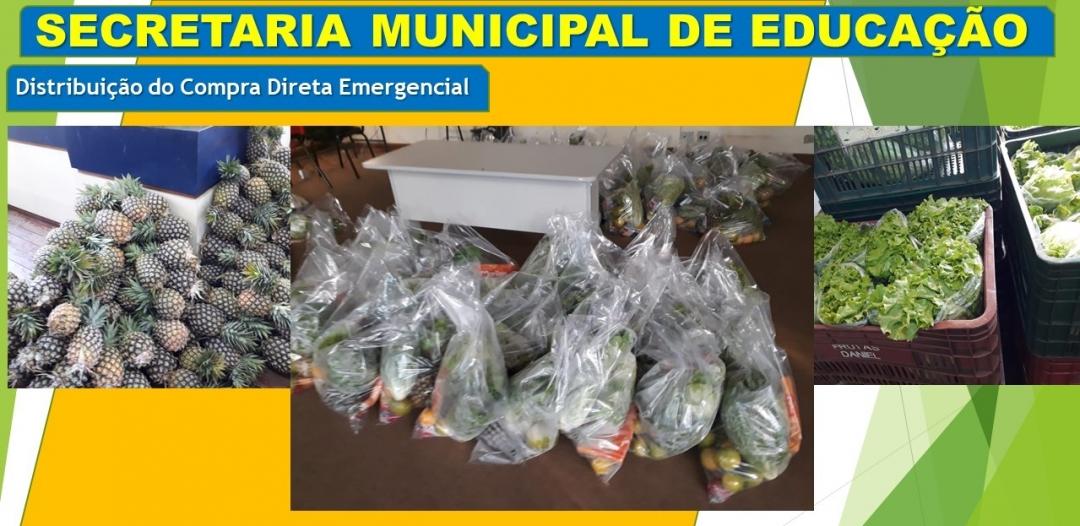 Secretaria de Educação de Andirá entrega cestas do Programa Compra Direta Emergencial