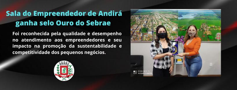 Sala do Empreendedor de Andirá ganha selo Ouro do Sebrae